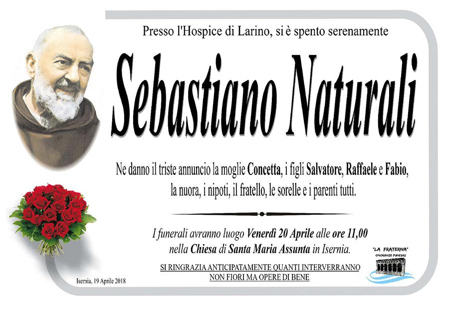 Sebastiano Naturali – 19/04/2018 – Isernia – Onoranze funebri La Fraterna