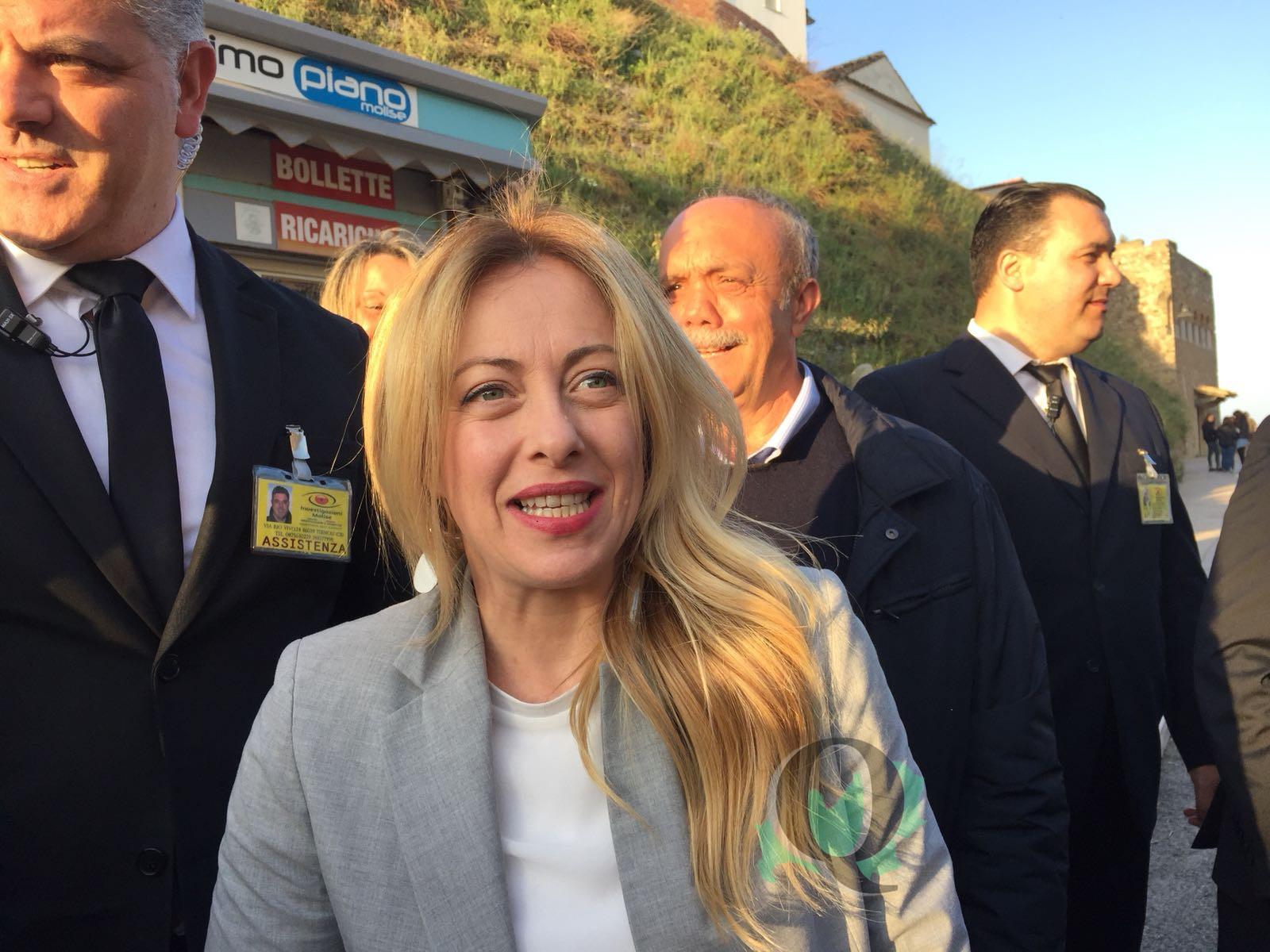 """Giorgia Meloni a Termoli: """"Ancora aperta la possibilità di governo"""""""