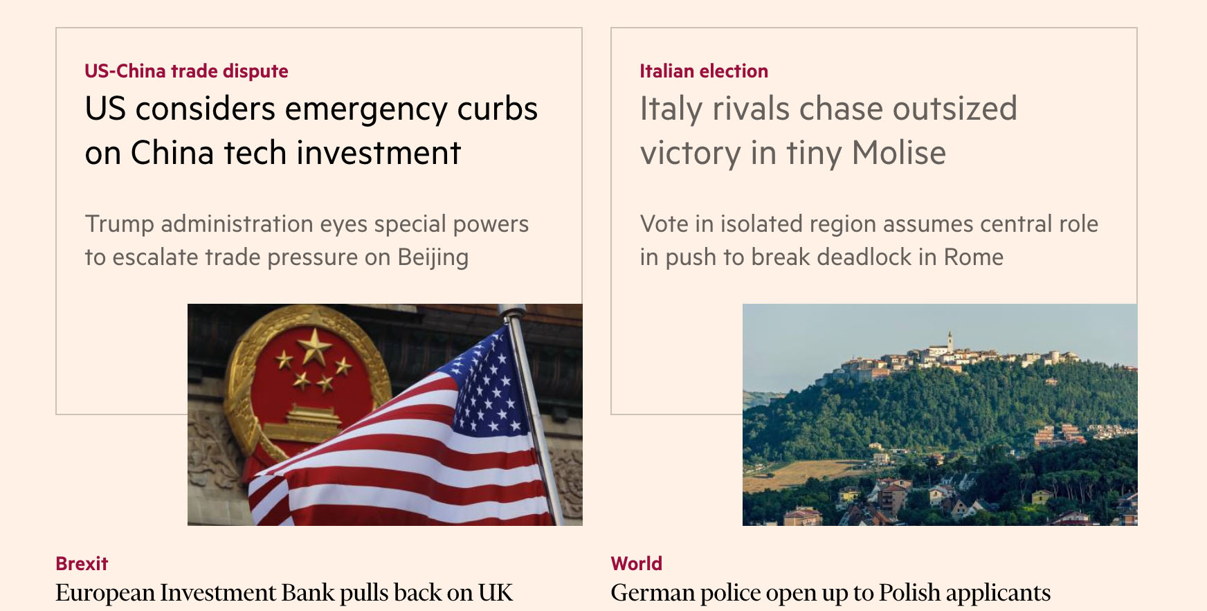 Le elezioni in Molise sul Financial Times