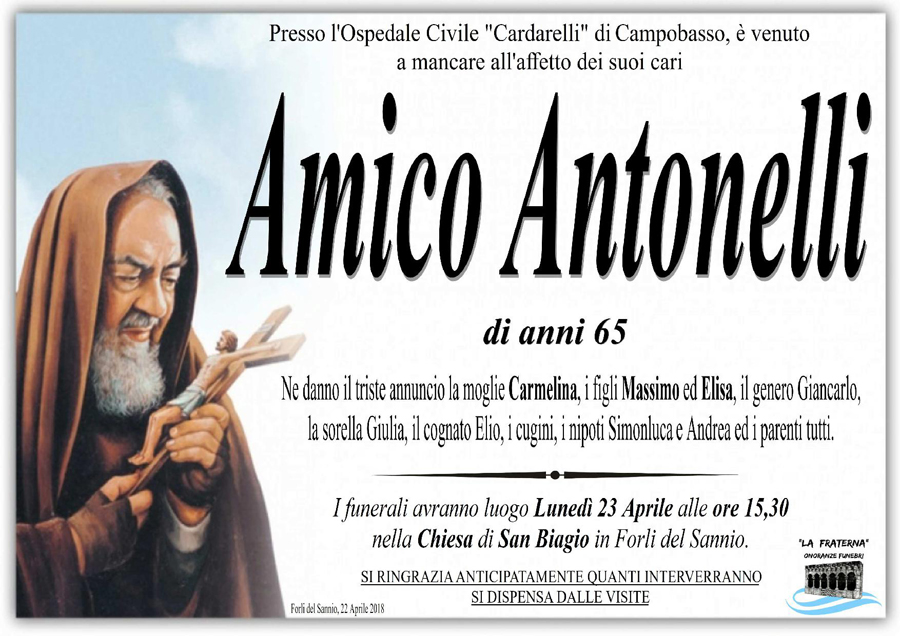 Amico Antonelli – 22/04/2018 – Forli del Sannio (IS) – Onoranze funebri La Fraterna
