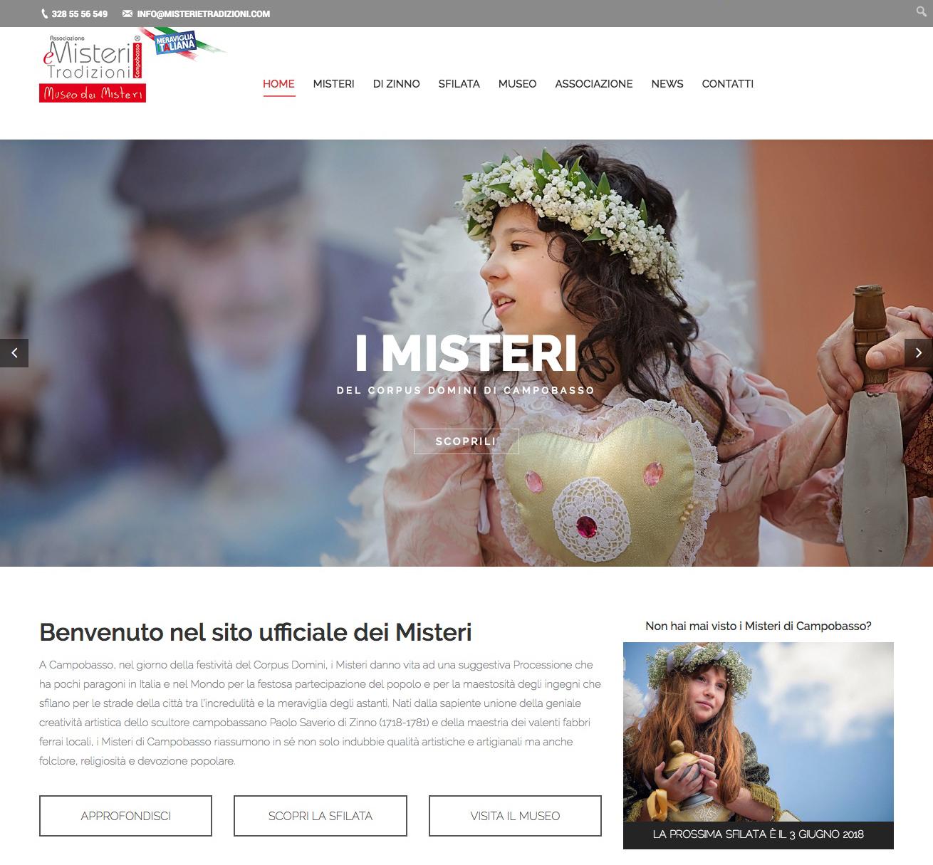 Il sito web dei Misteri torna on-line con una nuova veste grafica e tante novità