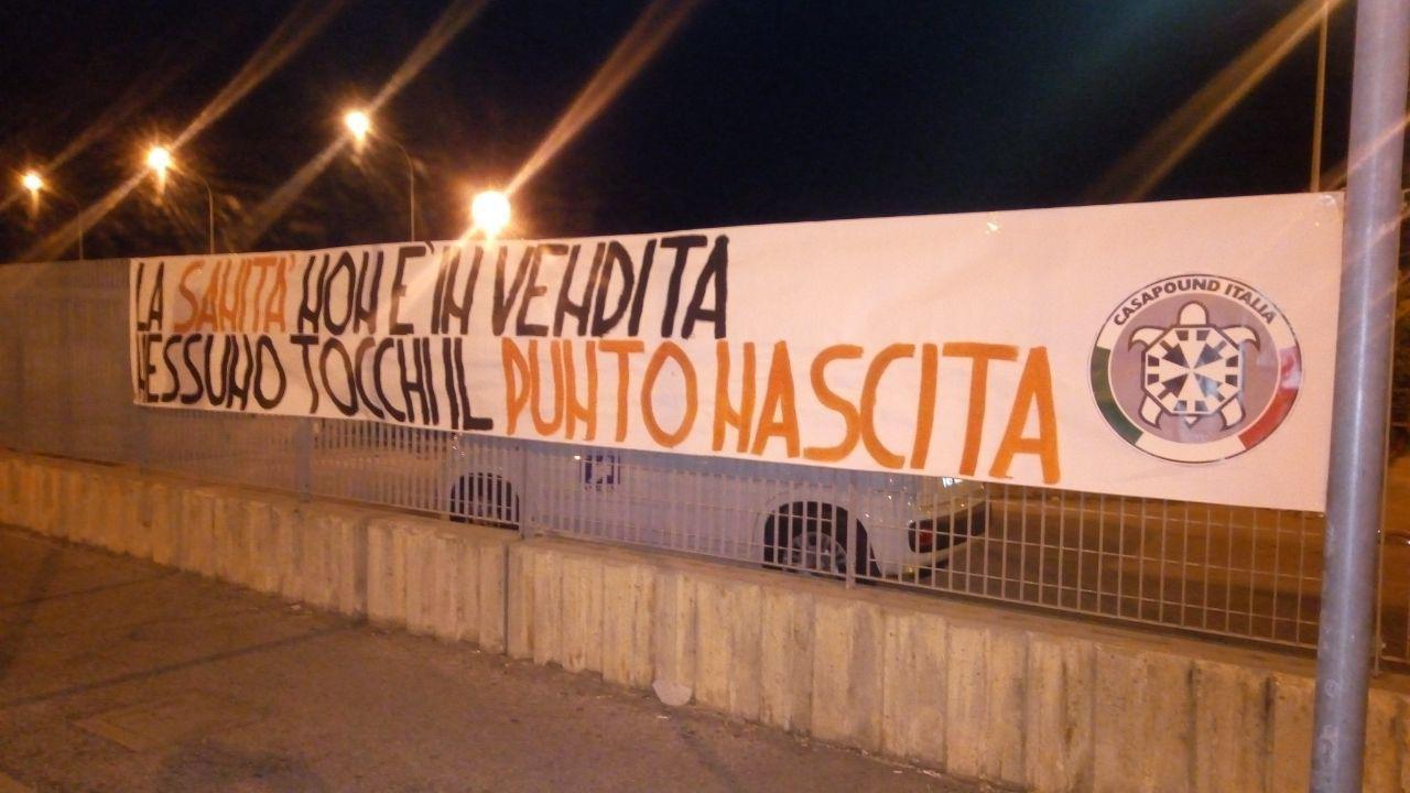Nessuno tocchi il punto nascita: protesta CasaPound al San Timoteo