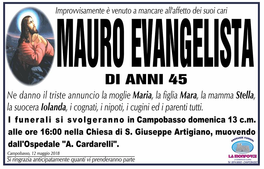 Mauro Evangelista – 12/05/2018 – Campobasso – Onoranze funebri La Monforte