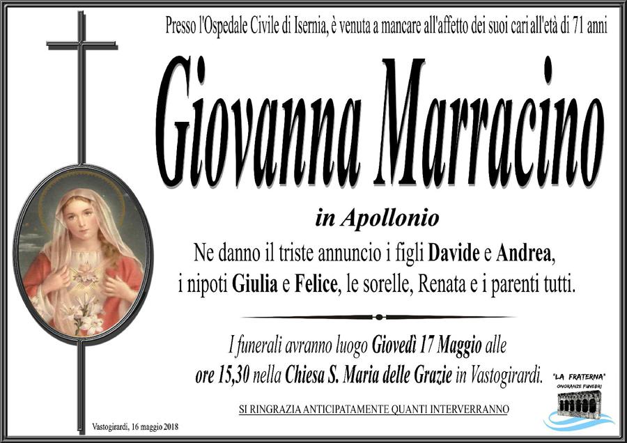 Giovanna Marracino – 16/05/2018 – Vastogirardi (IS) – Onoranze funebri La Fraterna