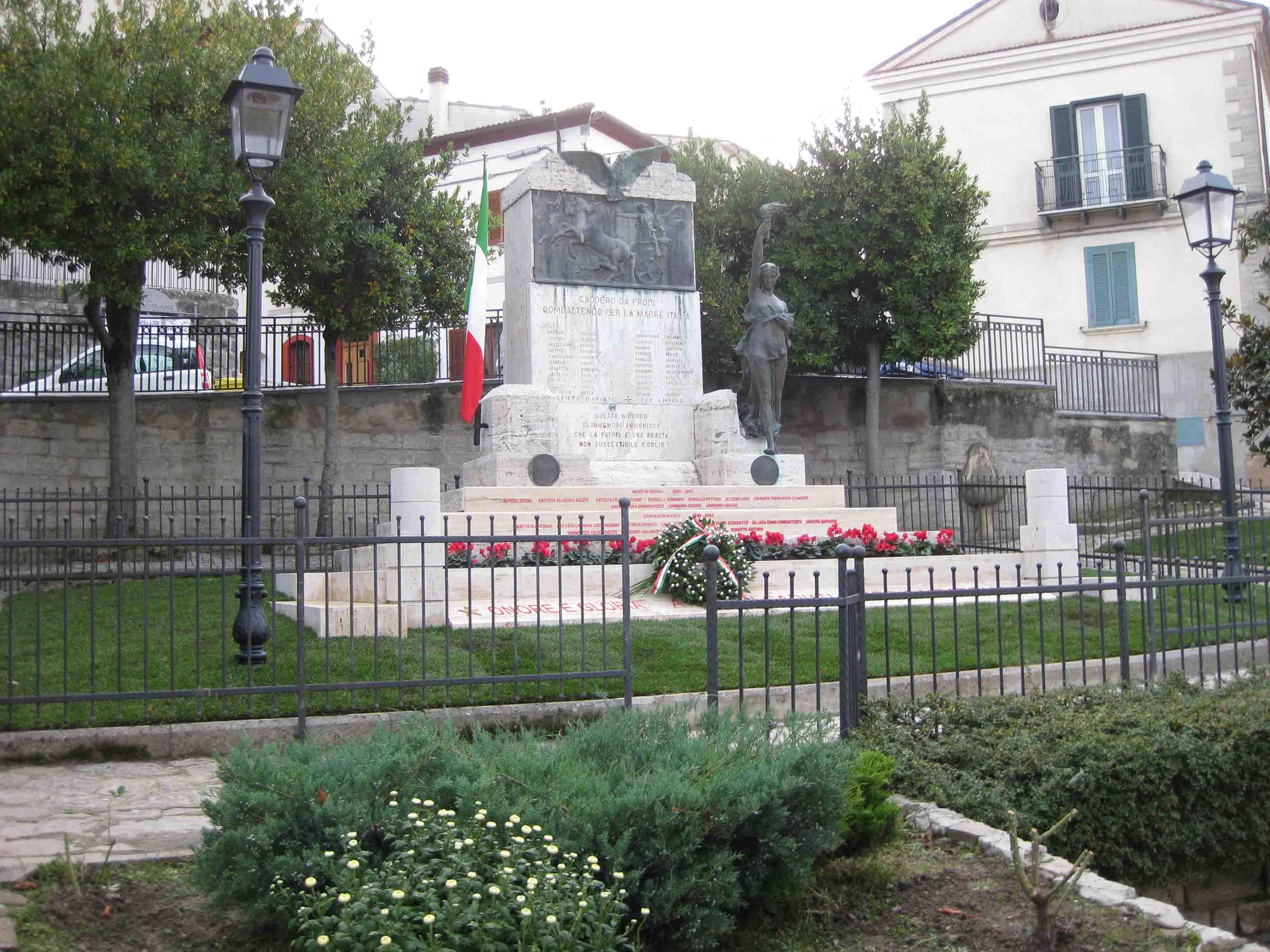 Casalciprano ricorda le vittime della Grande Guerra