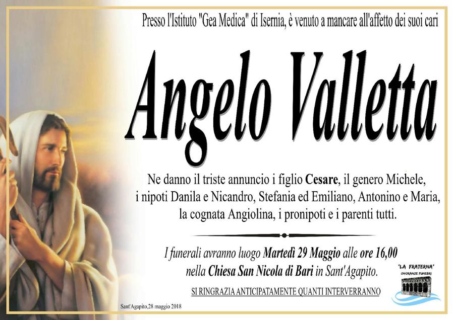 Angelo Valletta – 28/05/2018 – Sant'Agapito (IS) – Onoranze funebri La Fraterna