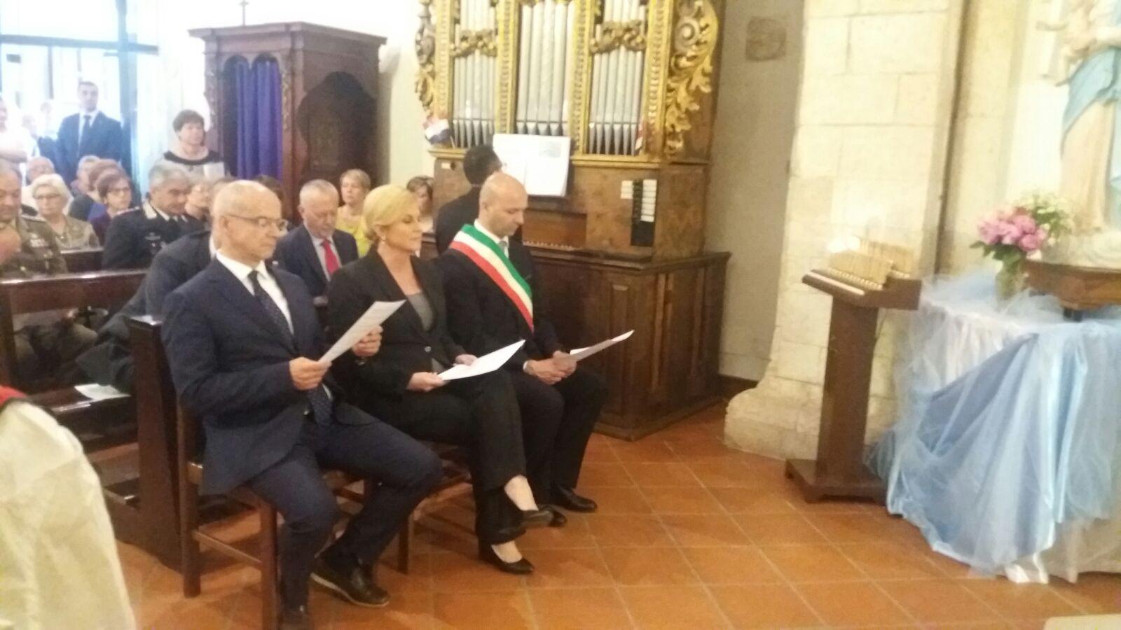 Il Presidente Kolinda Kitarović in visita nei paesi croati del Molise