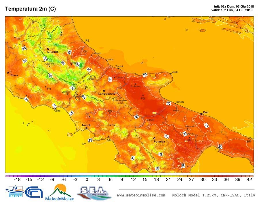 METEO IN MOLISE – Inizio giugno: tempo caldo e stabile