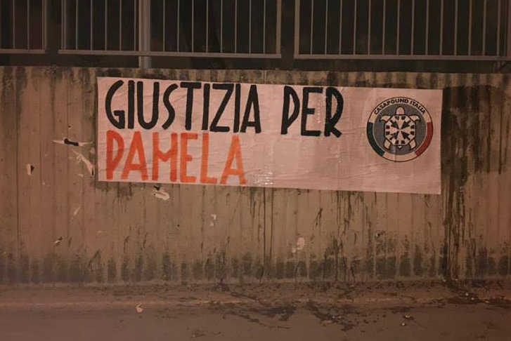 """Giustizia per Pamela"", striscione di CasaPound in più di 100 città"