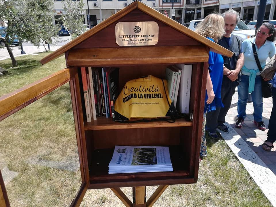 Installata a Larino la Casetta del Libro realizzata dal Rotary
