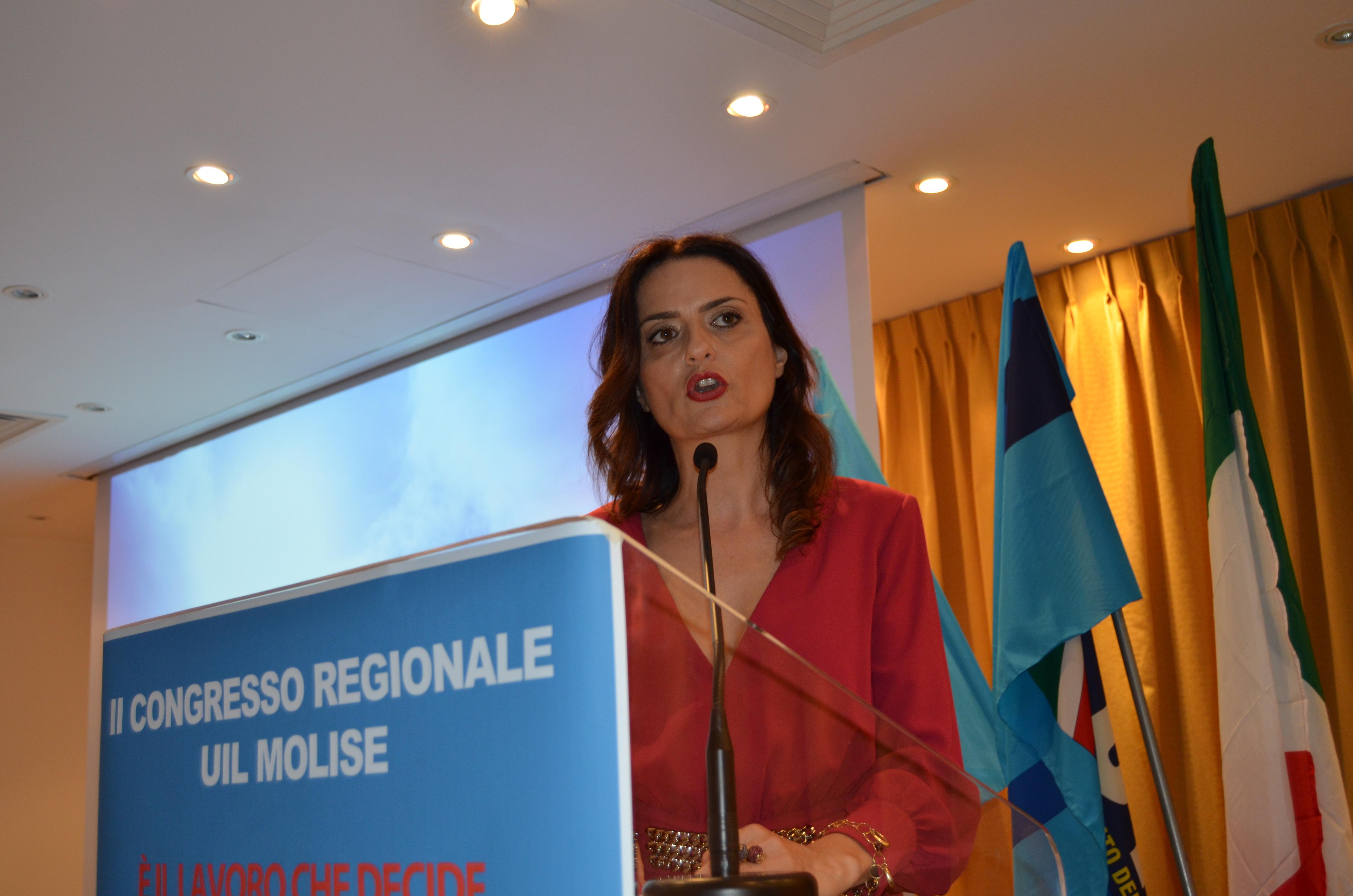 Congresso regionale UIL Molise: Tecla Boccardo rieletta al vertice