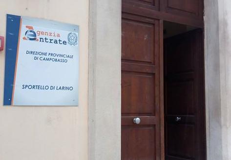 Agenzia Entrate chiude lo sportello di Larino