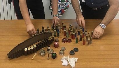 Droga e munizioni detenute illegalmente, scattano tre denunce in Alto Molise