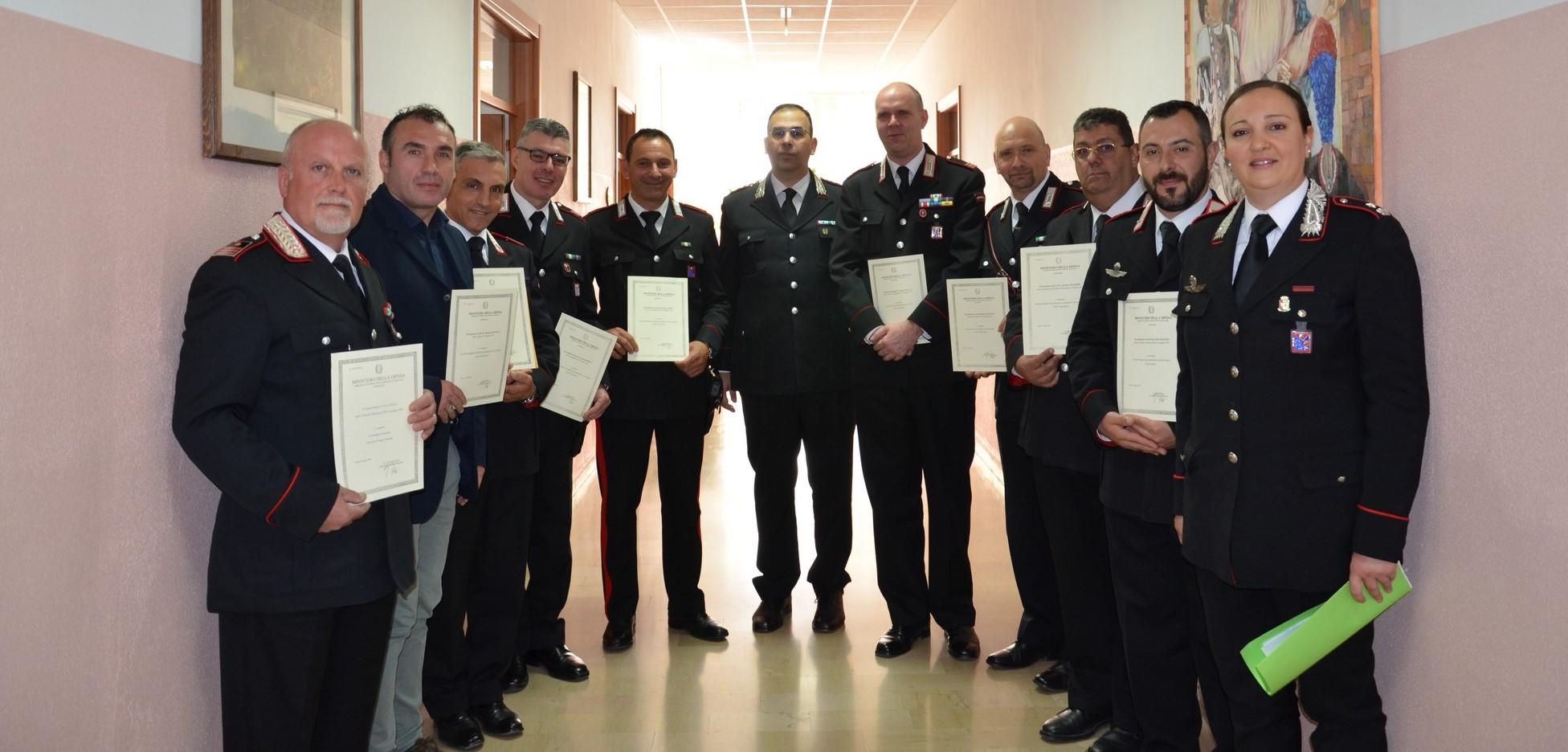 Carabinieri, cerimonia di consegna delle onorificenze per merito