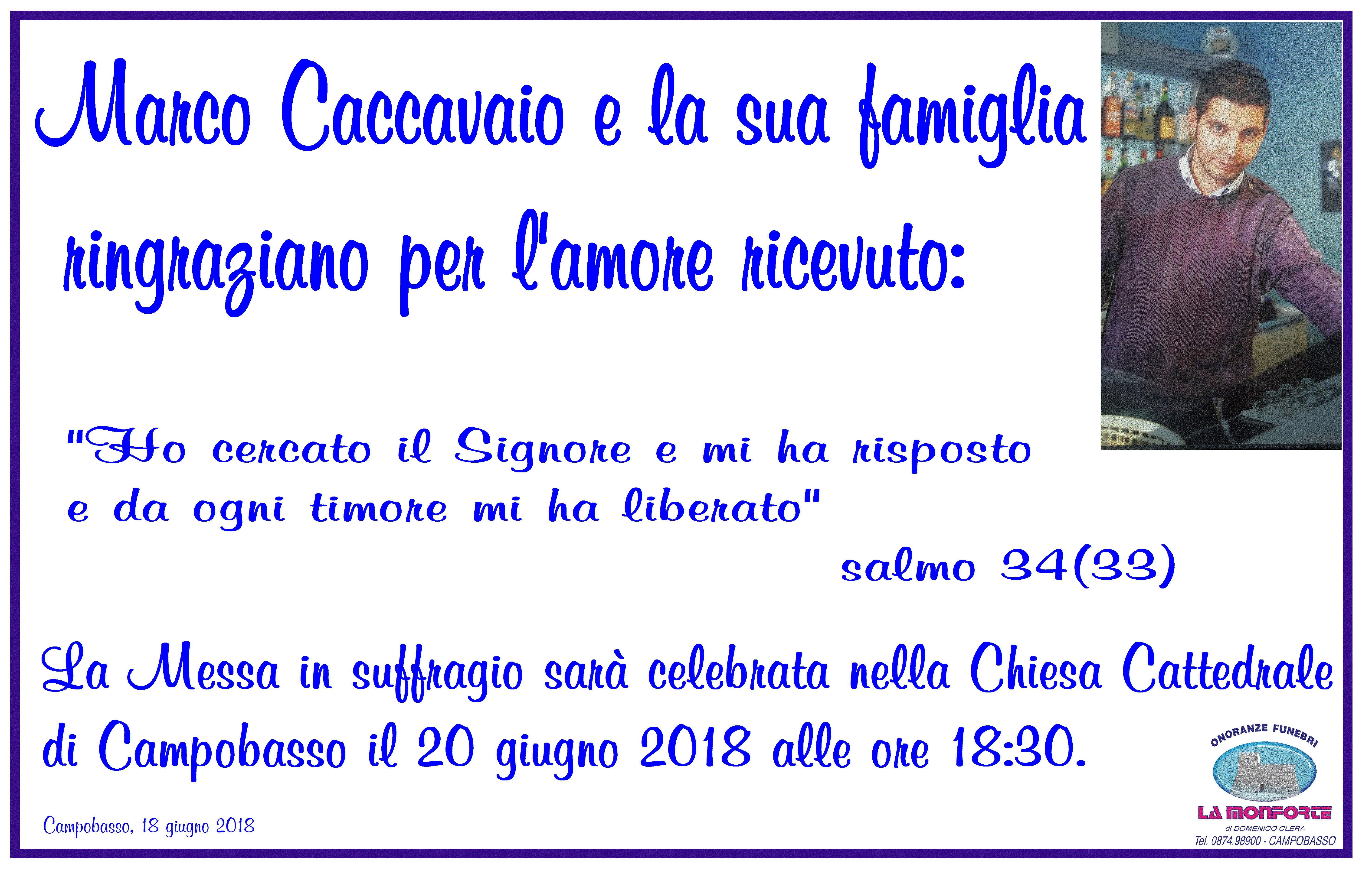 Ringraziamento Famiglia Caccavaio – Campobasso