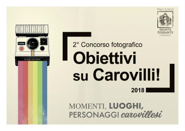 INIZIATIVE – Seconda edizione del concorso fotografico 'Obiettivi su Carovilli'