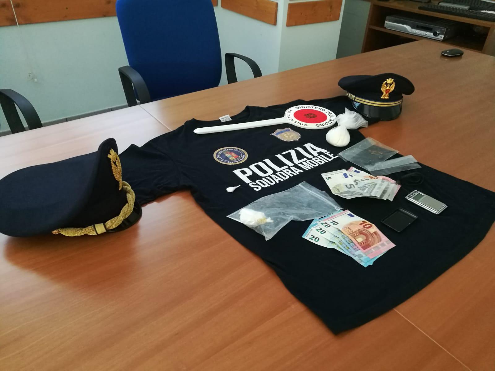 Operazione antidroga della Questura di Isernia: sequestrati oltre 40 grammi di cocaina. Arrestata una donna