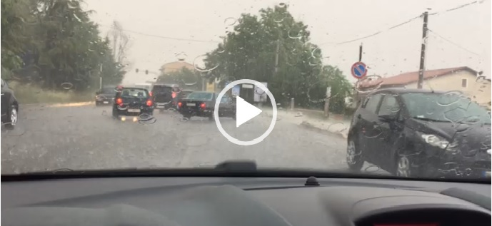 Violento temporale a Campobasso, strade allagate e auto bloccate (VIDEO)