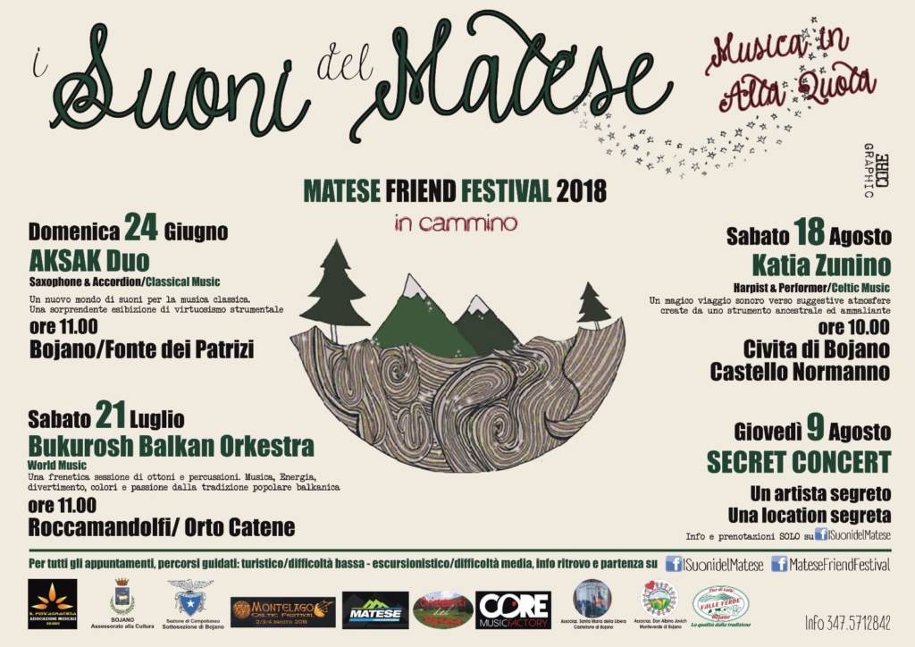 """APPUNTAMENTI – """"I Suoni del Matese"""", il Festival nel festival (CALENDARIO EVENTI)"""