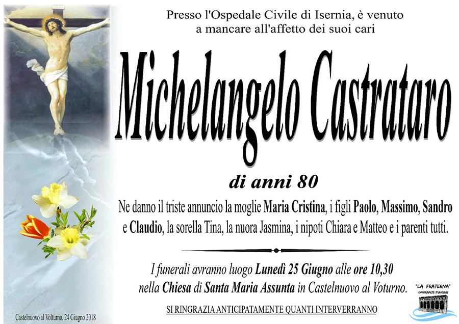 Michelangelo Castrataro – 24/06/2018 – Castelnuovo al Volturno (IS) – Onoranze funebri La Fraterna