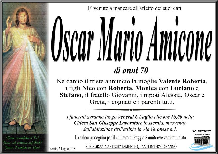 Oscar Mario Amicone – 05/07/2018 – Isernia – Onoranze funebri La Fraterna