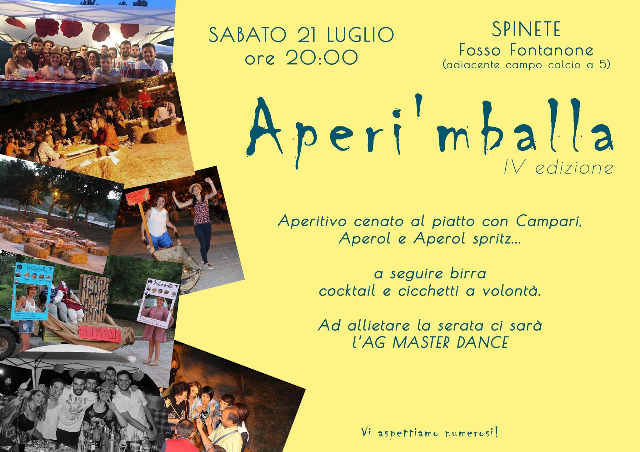 """EVENTI – A Spinete """"Aperi'mballa"""", l'aperitivo cenato al piatto"""
