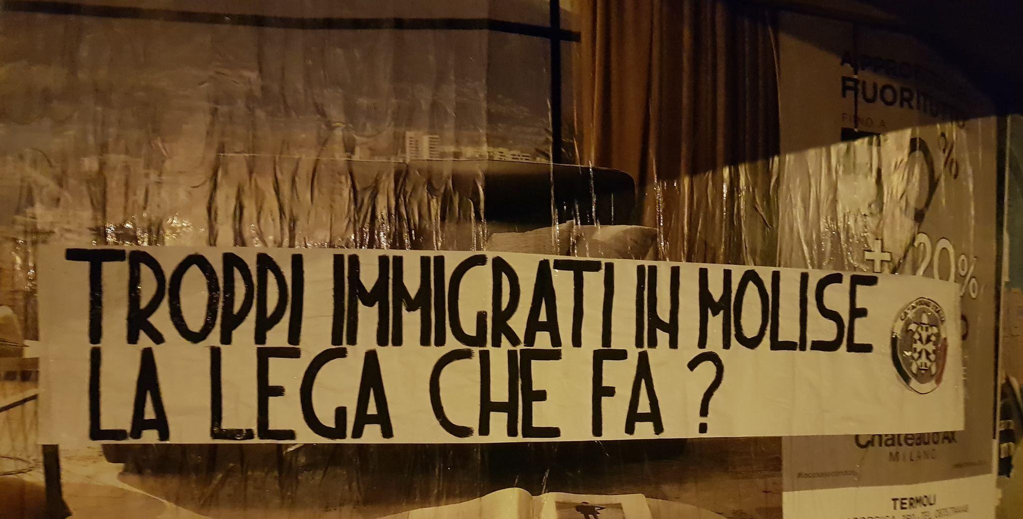 Caos immigrazione in Molise, Casapound incalza la Lega