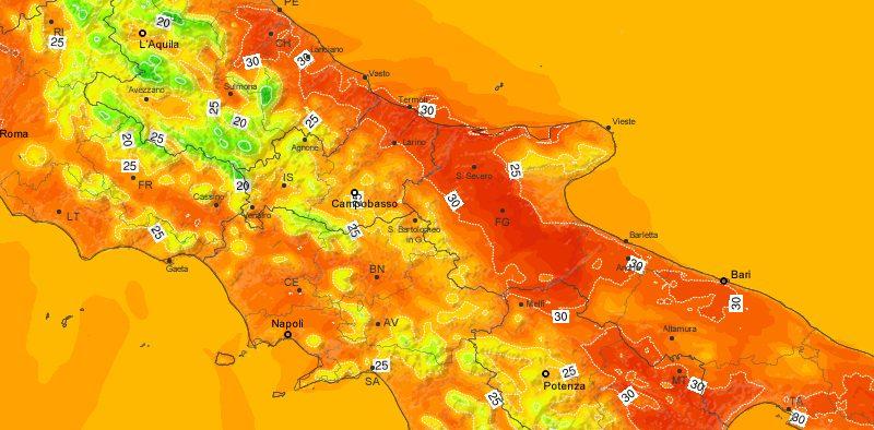 METEO IN MOLISE – Temperature in rialzo, clima estivo