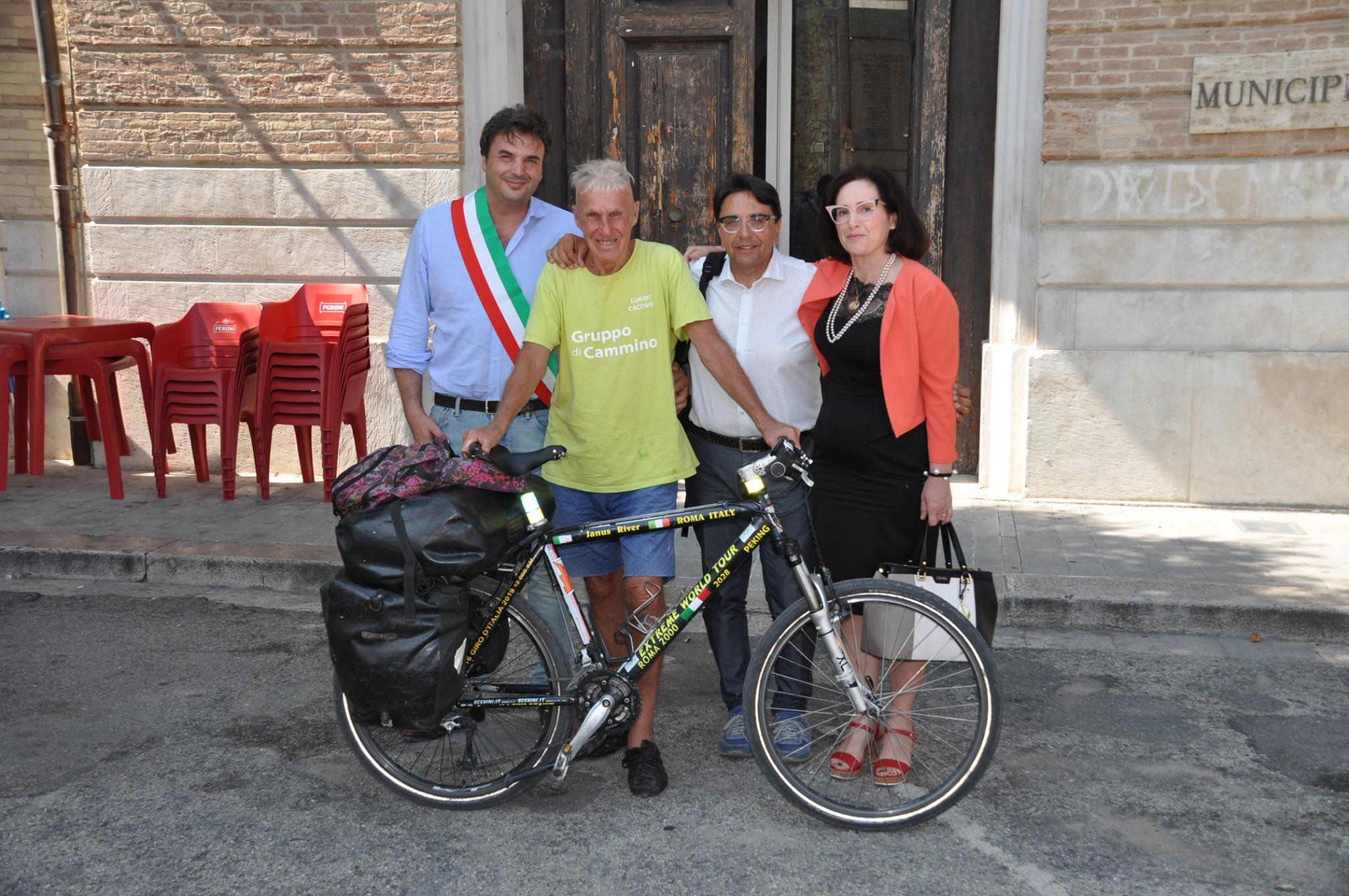 Janus River, il ciclista giramondo è arrivato in Molise