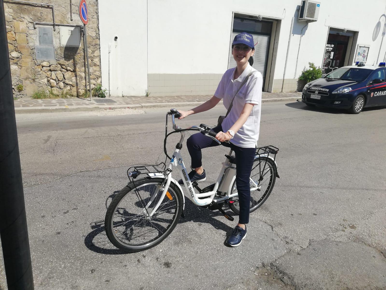 Venafro, ausiliari del traffico sulle bici elettriche