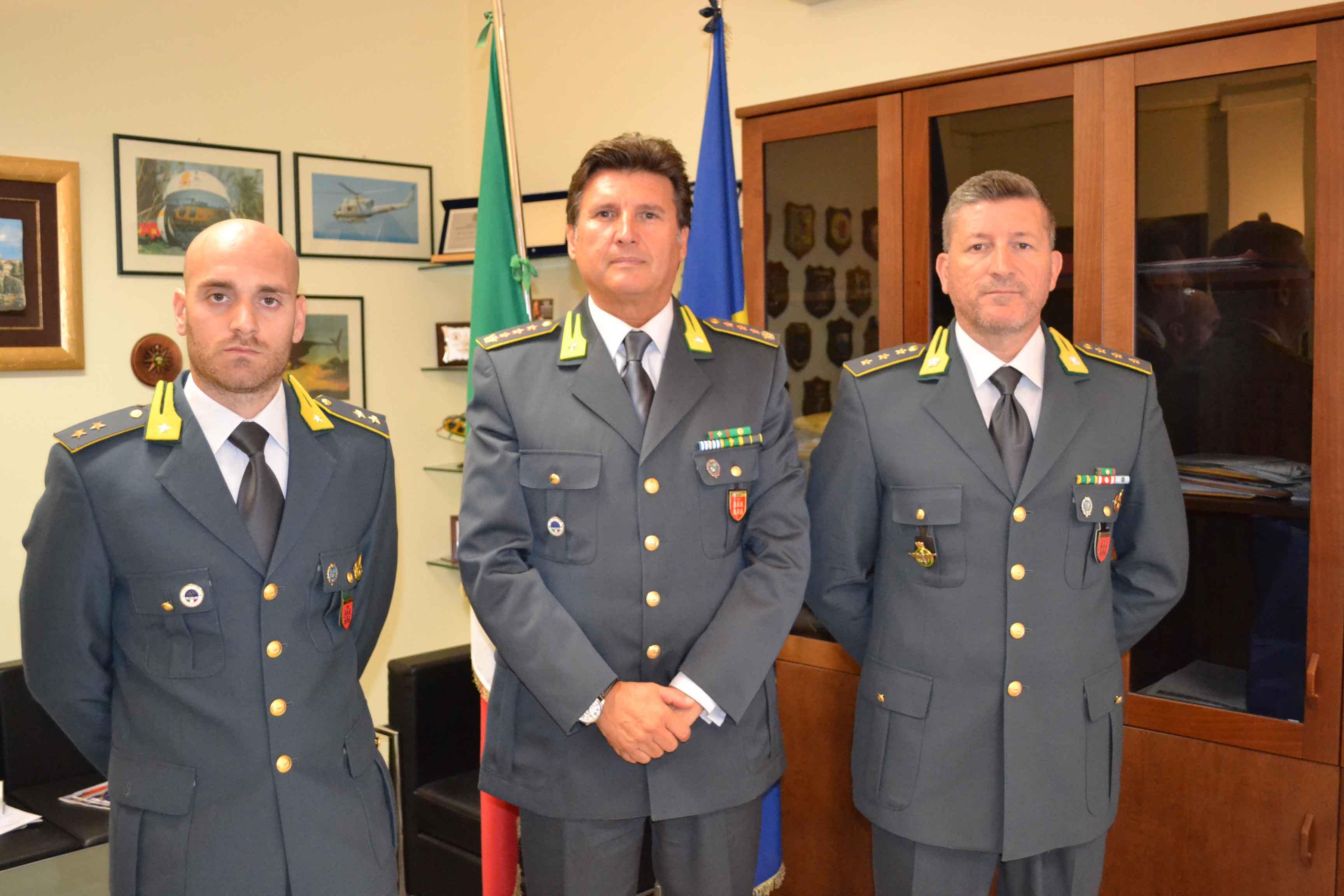 Guardia di Finanza, avvicendamenti al Comando Provinciale di Isernia