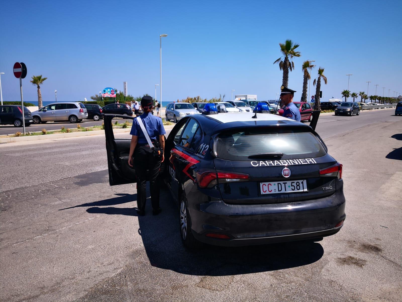 Carabinieri, settimana di Ferragosto all'insegna della prevenzione