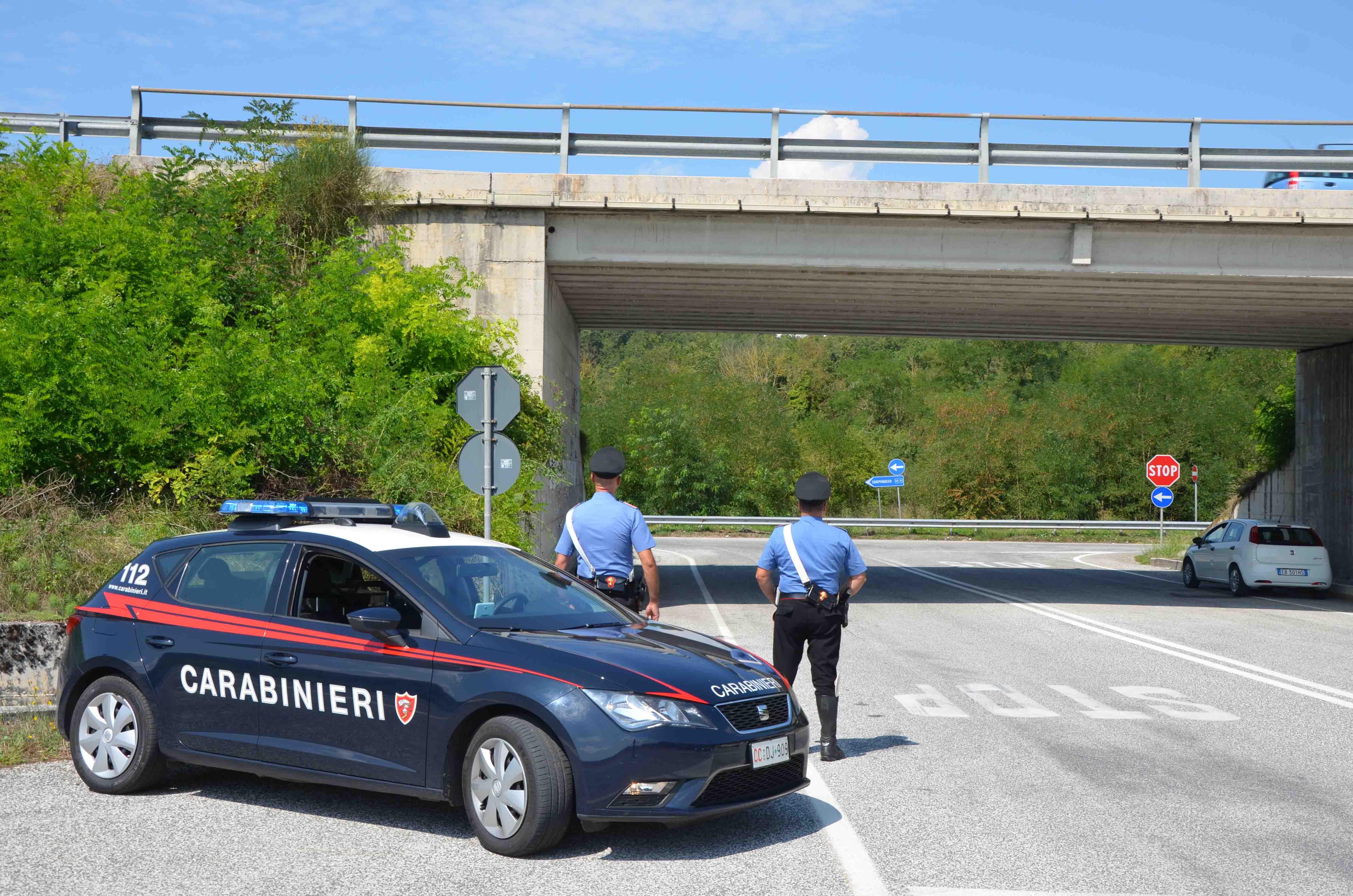 Dopo le scosse scattato il piano di emergenza dei Carabinieri