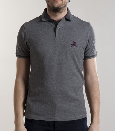 Polo-neck Vendôme 02 - Marl grey