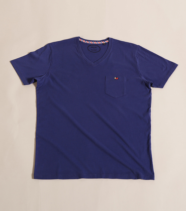 Tee-shirt V-neck Victoire - Blue