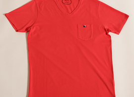 Tee-shirt V-neck Victoire - Red