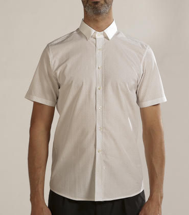 Shirt Dmitrieff - White w/squares