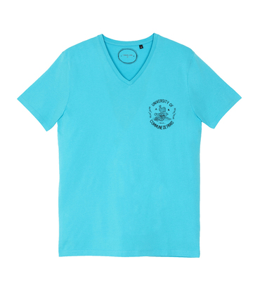 Tee-shirt University - Turquoise