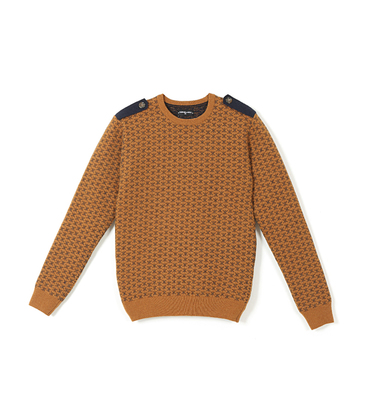 Sweater Riquet - Mustard/blue