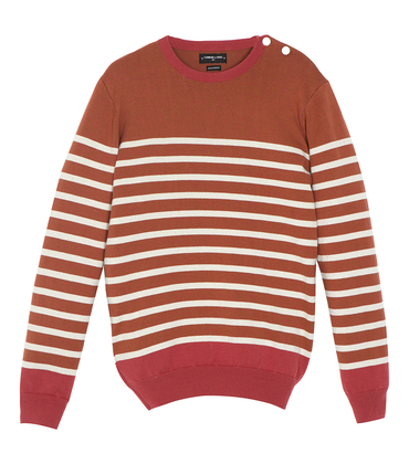 Pullover Javel - Old red stripes