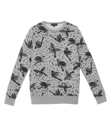 Sweater Birdy - Marl grey