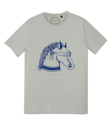 Tee-shirt Cheval - Medium grey
