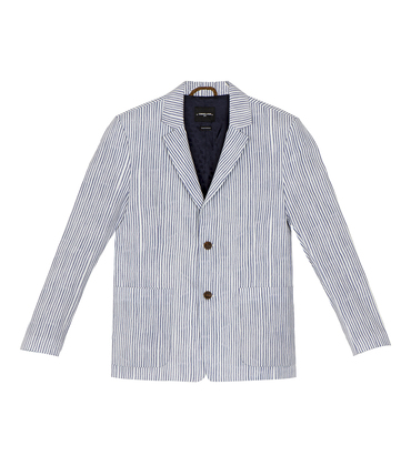 Suit Jacket Protot 2 - Blue stripes