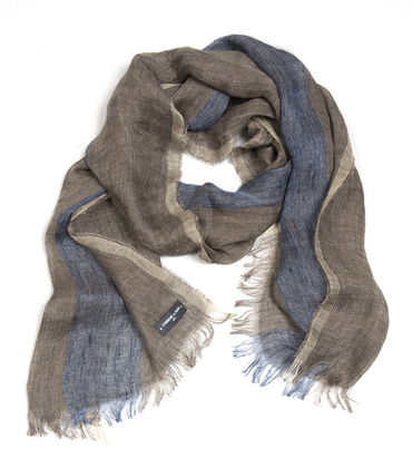 Scarf Trait - Camel/blue
