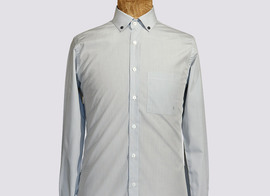 Shirt Delescluze - Grey stripes