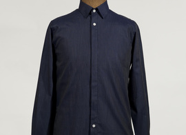 Shirt Varlin - Blue with stripes