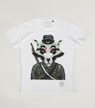 Tee-shirt Loup - White