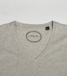 Tee-shirt V-neck Médaille marl grey
