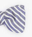 Bow tie Auguste striped blue