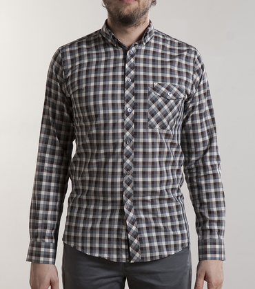 Shirt Gambon - Brown checked